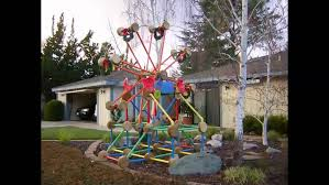 home made outdoor christmas decorations christmas ferris wheel diy pictures youtube easy outdoor decorations