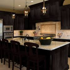 Dark Shaker Kitchen Cabinets Island Java Shaker Series Ready To Assemble Cabinets