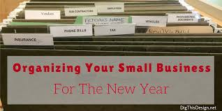 tips to organize your small business for the new year