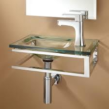 Wall Mounted Vanity Sink Bangor Wall Mount Glass Sink Bathroom
