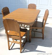 Antique Dining Sets Farmhouse Style Antique Dining Set Makeover In The Garage