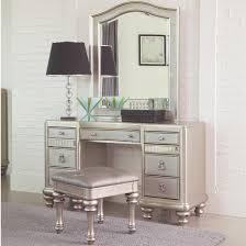 Mirrored Vanity Bench Vanity Stool With Arrow Bun Feet By Coaster Wolf And Gardiner
