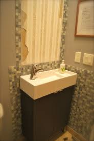 Narrow Bathroom Vanities by Bathroom Small Narrow Half Bathroom Ideas Modern Double Sink