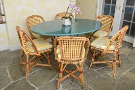 Blue Bistro Chairs Chair French Bistro Chairs Made From Rattan With Wood Patern And
