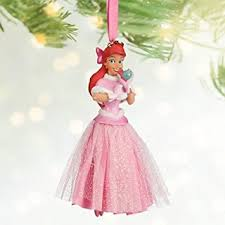 disney pink ariel princess gown sketchbook ornament