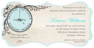 around the clock bridal shower around the clock bridal shower invitations around the clock bridal