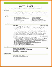 Sample Format Of Resume For Teachers by Teaching Cv Template Job Description Teachers At Cv Example
