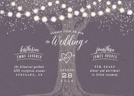Customizable Wedding Invitations Garden Lights Customizable Wedding Invitations In Purple By