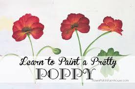 how to paint a pretty poppy flower patch farmhouse