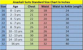 size chart for girls kids size chart