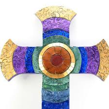 unique wall crosses best stained glass wall cross products on wanelo