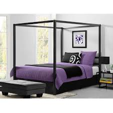 Modern Canopy Bed Frame Size Modern Canopy Bed In Sturdy Grey Metal