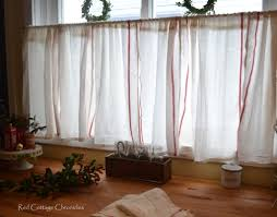 ikea dishtowel hack cafe curtains frugal and cafes