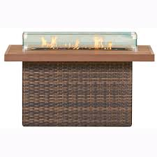 Rectangle Fire Pit - resort wicker fire pits commercial outdoor furniture at low