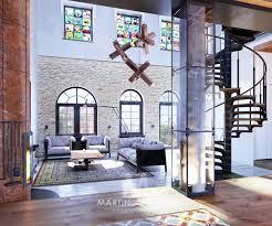 industrial style loft in kiev showcases impressive design