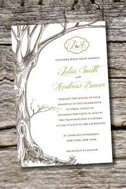 Unique Card Wedding Invitation Vintage Tree Initials Rustic Wedding By Paperheartcompany On Etsy