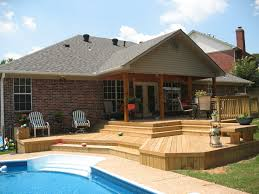 deck backyard ideas triyae com u003d multi level backyard designs various design