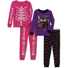 baby toddler halloween cotton tight fit pajamas 2 sets