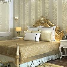 Schlafzimmer In Beige Braun Weiß Gelb Beige Rosa Braun Schimmer Damast Gestreifte Tapete Für