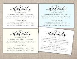 wedding inserts wedding invitation accommodation insert wording wedding invitation