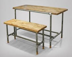 Industrial Style Bench 3 Industrial Style Bar Tables Designed With Pipe Details Home