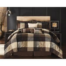 Comforter Sets King Walmart Elliot 8 Piece Comforter Set Black And Brown Walmart Com