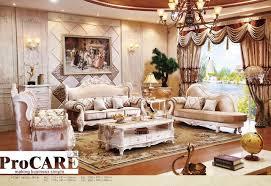 canap baroque italien bleu tissu canapé fixe salon meubles antique style en bois