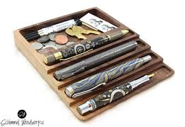 Cherry Desk Organizer Cherry Or Walnut Wood Pen Tray With Desk Organizer Pen Tray