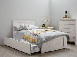 king single bed trundle kids beds whitewash b2c furniture