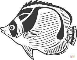 butterfly fish coloring free printable coloring pages
