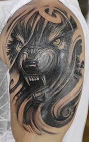 wolf shoulders tribal tattoos flash meaning pictures designs