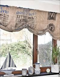 kitchen ruffled burlap curtain farmhouse kitchen valance by
