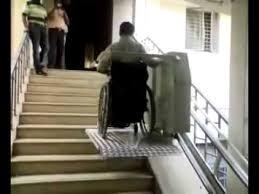 wheelchair stair lift by thirdleg mobility aids chennai youtube