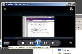 Teh Wmp network is busy to play file at original quality mp4 media player
