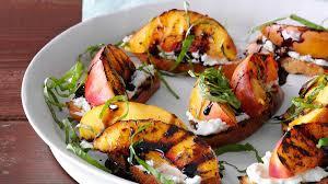 grilled nectarine u0026 cheese crostini recipe taste of home
