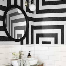 don u0027t paint walls untill you see these striped wallpaper interiors