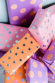 purple gift wrap stick it to me 5 minute diy sticker gift wrap paper and stitch
