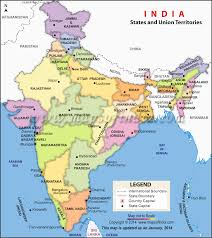 India Map Blank With States by Map Of Indian States And Union Territories Enlarged View