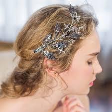 best hair accessories floristic handmade tiaras gold leaves hair jewelry retro