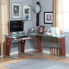 corner desk tops office table tops within glass table top computer desk u2013 ashley