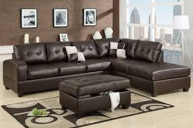 Leather Sofa Set L Shape Amazon Com Poundex F7358 Espresso Bonded Leather Sectional Sofa