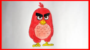 draw red angry birds movie 2016