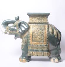 ceramic elephant plant stand or side table ebth
