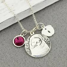 Personalized Sterling Silver Necklace Wholesale Personalized Sterling Silver Photo Charm Necklace With