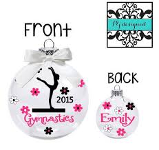 personalized gymnastics ornament ornament for gymnast