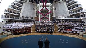 harmony of the seas crew assembly timelapse royal caribbean