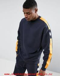 men u0027s asos oversized sweatshirt with cut u0026 sew knitted panel