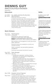 Best Engineering Resume Samples by Field Engineer Resume Samples Visualcv Resume Samples Database
