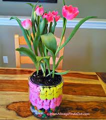 Easter Decorations Peeps by How To Make A Peeps And Tulips Centerpiece