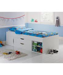 buy kaden single cabin bed frame white at argos co uk your